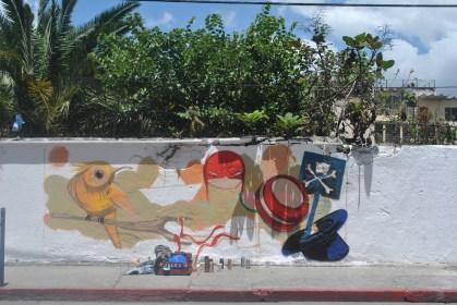 Creacion de mural en calles del centro historico (Foto: ESU Javier Polanco)