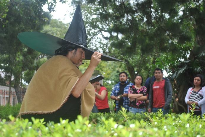 Dramatización de Leyenda el sombreron (Foto: ESU Javier Polanco)