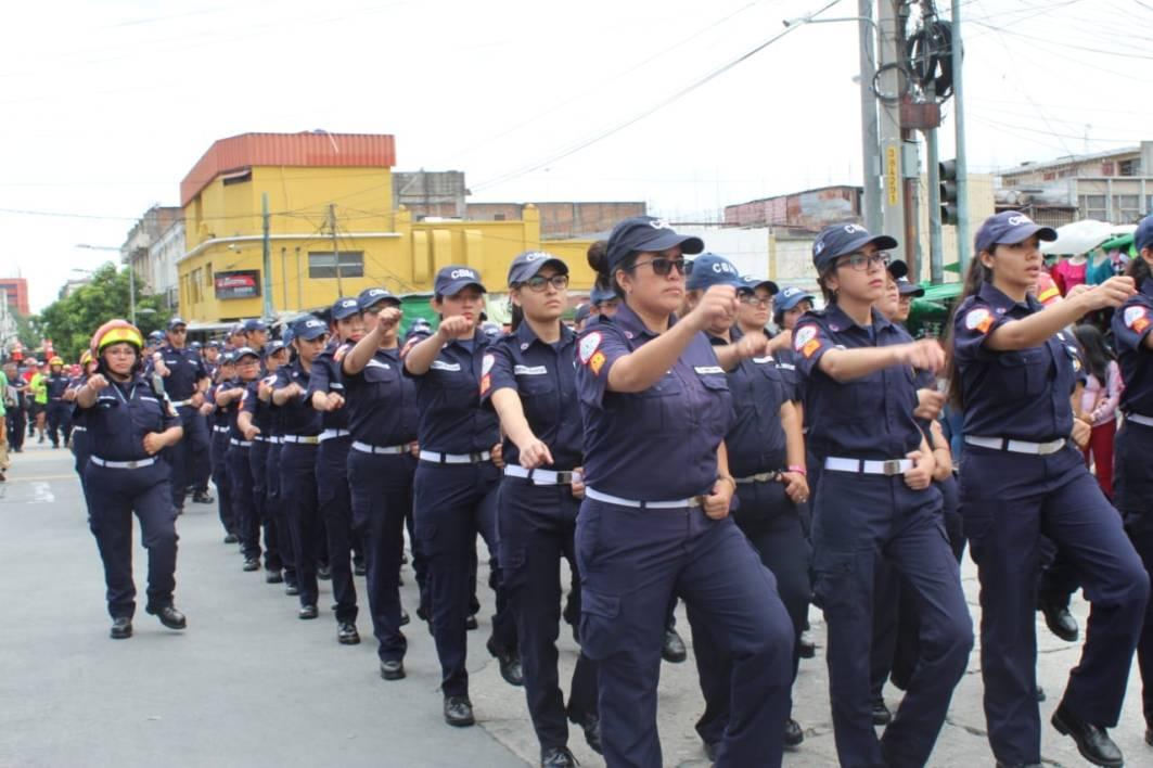 Desfile Bomberos Municipales 63 aniversario 1