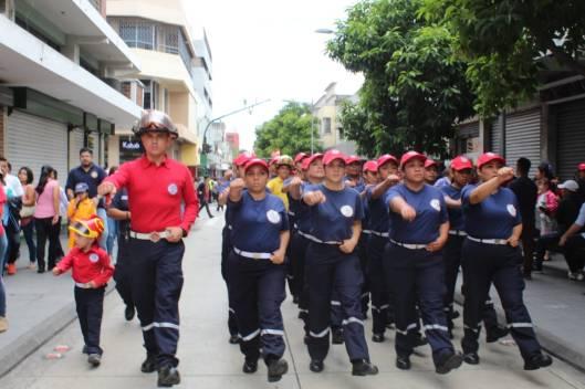Desfile Bomberos Municipales 63 aniversario 2