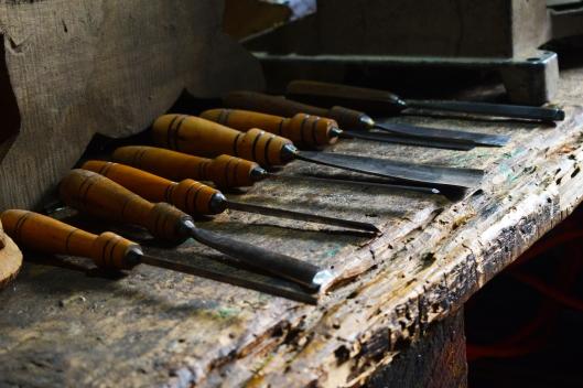 Juego de gubias. Foto por Luz Alvarez