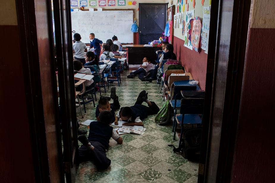 Estudiantes del primer grado de primaria