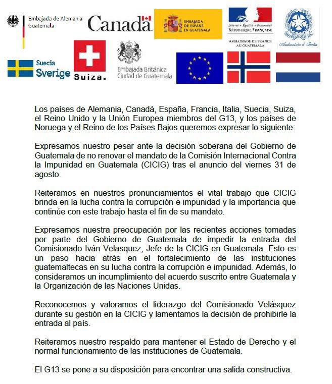 Comunicado de paises cooperantes de cicig 1