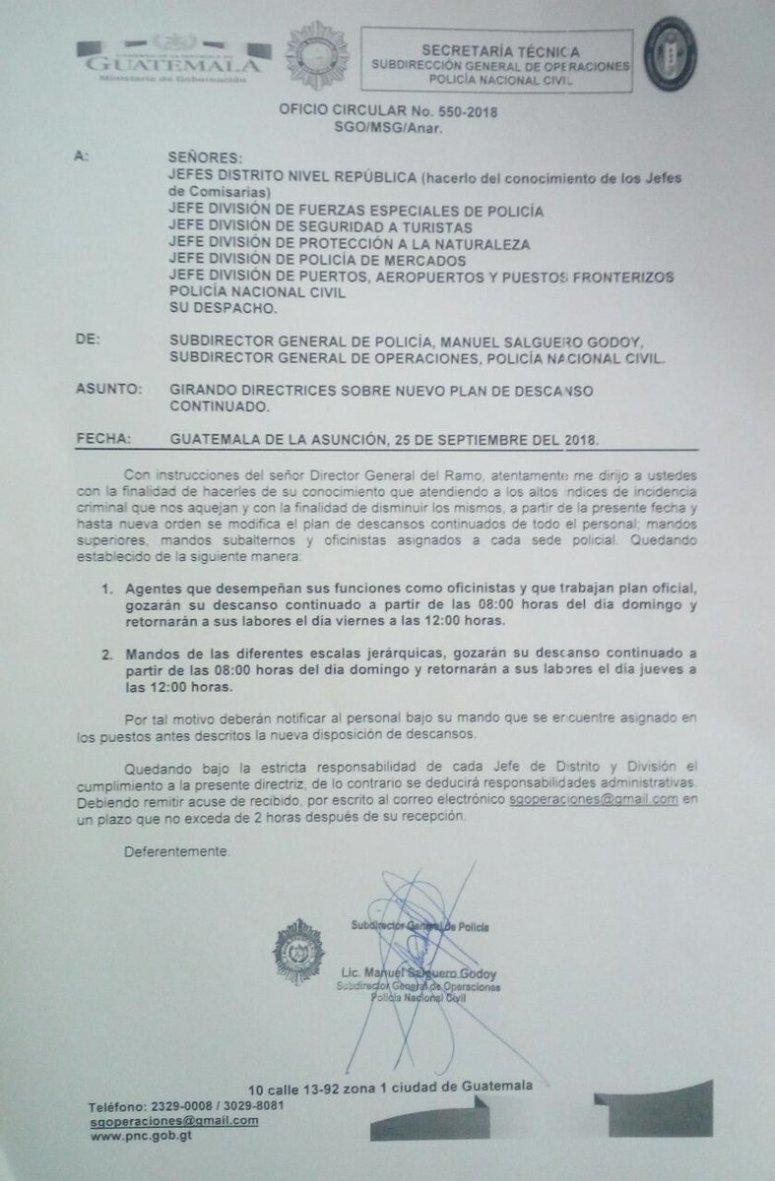 Director de la Policía Contradice a Alvaro Arzu 25092018 2