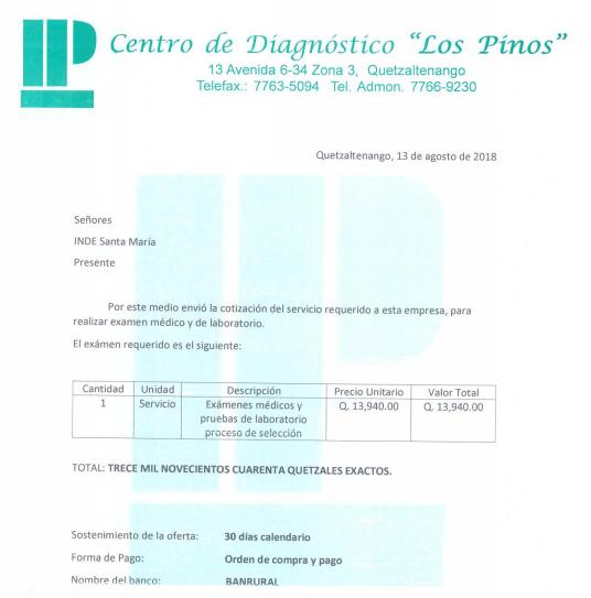 Factura exámenes - Propia