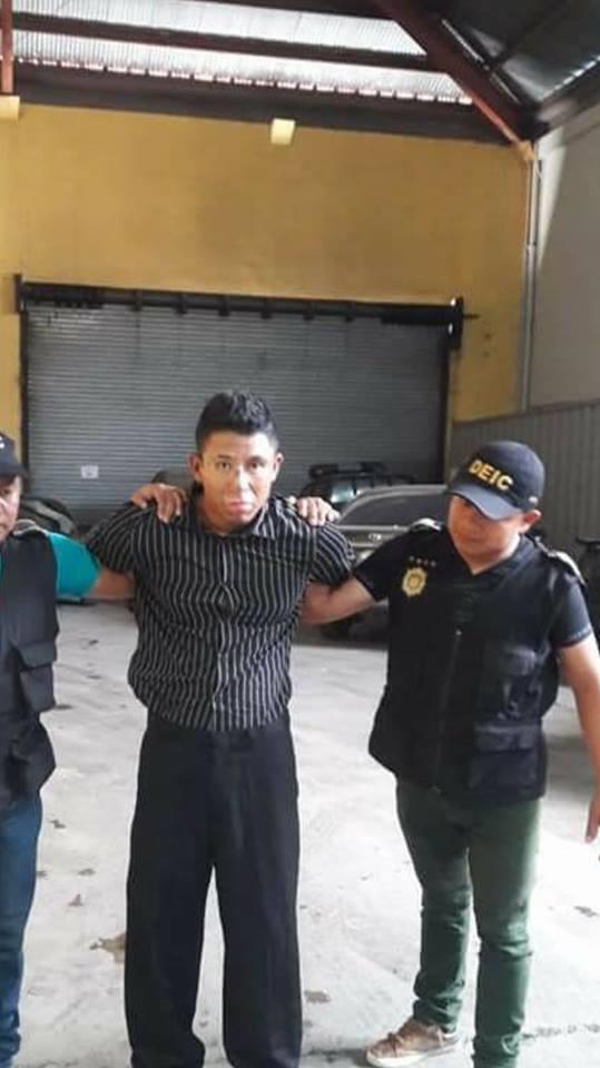 Jose David Calderon Giron de 21 años capturado el 11 de junio de 2018 por violar al menos a 10 mujeres en la zona 18 y 6
