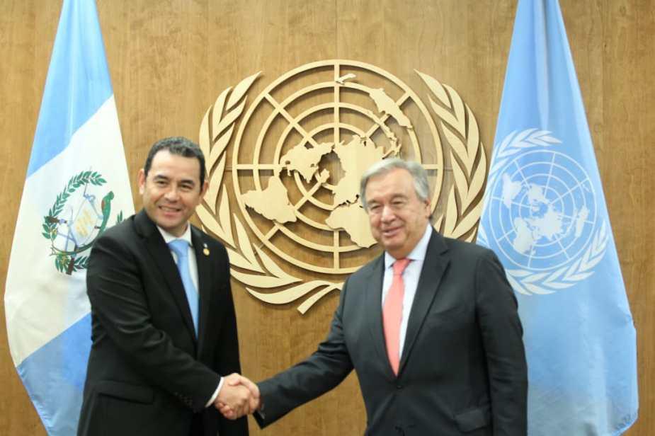 Reunion entre Jimmy Morales y Antonio Guterres 2