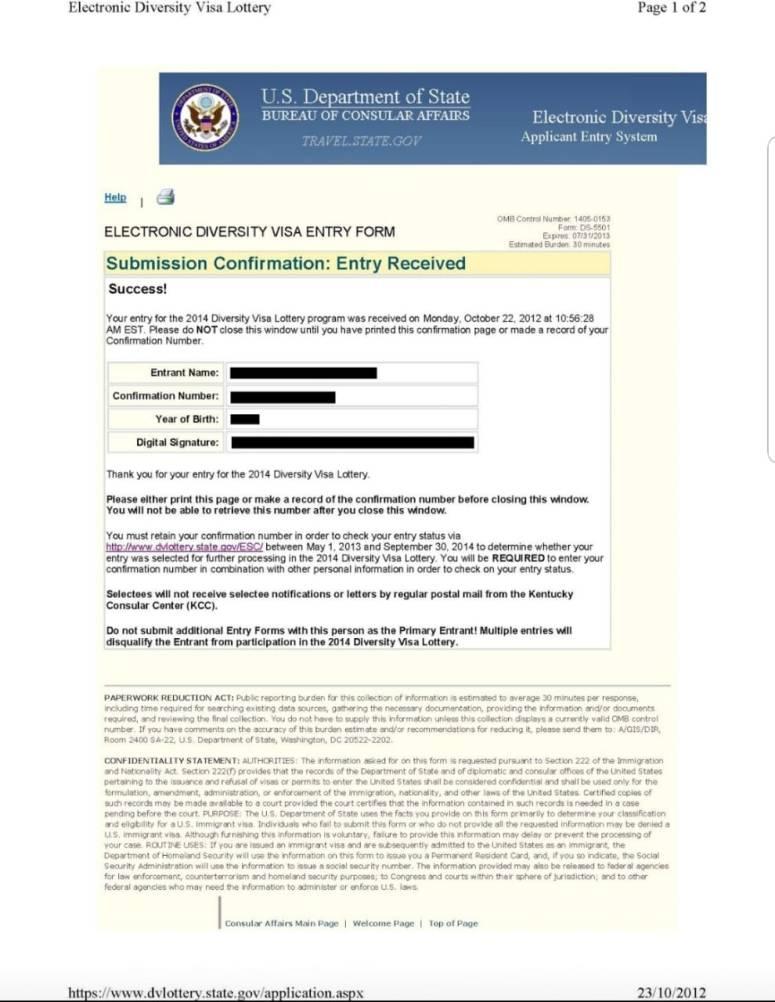 Loteria de visas 11102018 2