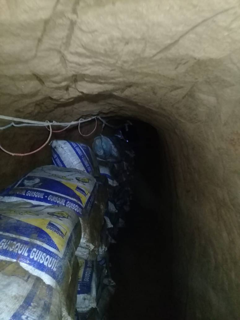Tunel en allanamiento en Santa Elena Barillas Villa Canales 0610208