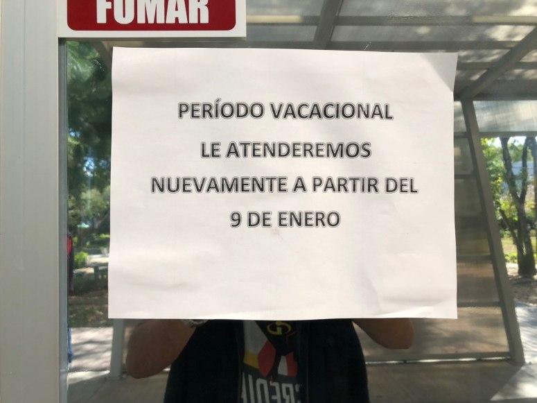 aviso vacaciones