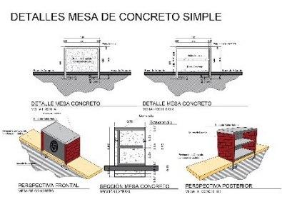 Mesa de concreto simple