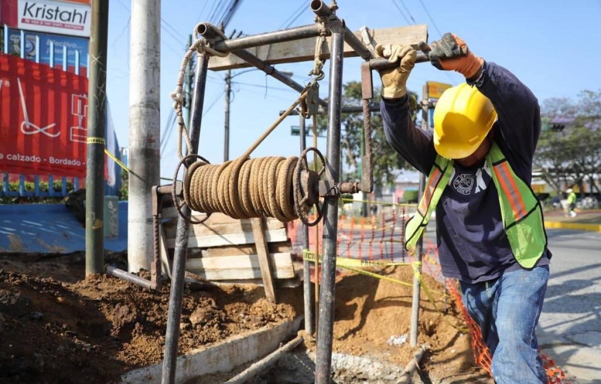 Trabajos paso a desnivel Petapa y 35 calle. Foto: Soy502